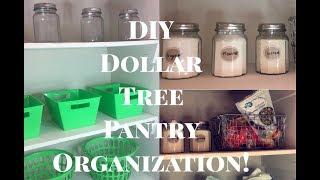 DIY Dollar Tree Pantry Organization ♡