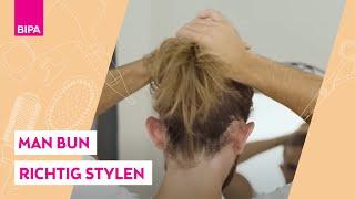 Man Bun richtig machen: Hairstyling-Tutorial mİt BIPA