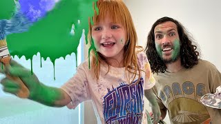 How to PAINT PUMPKiNS!!  Mom Hands, Finger Painting, and Learning Colors with Niko! family challenge