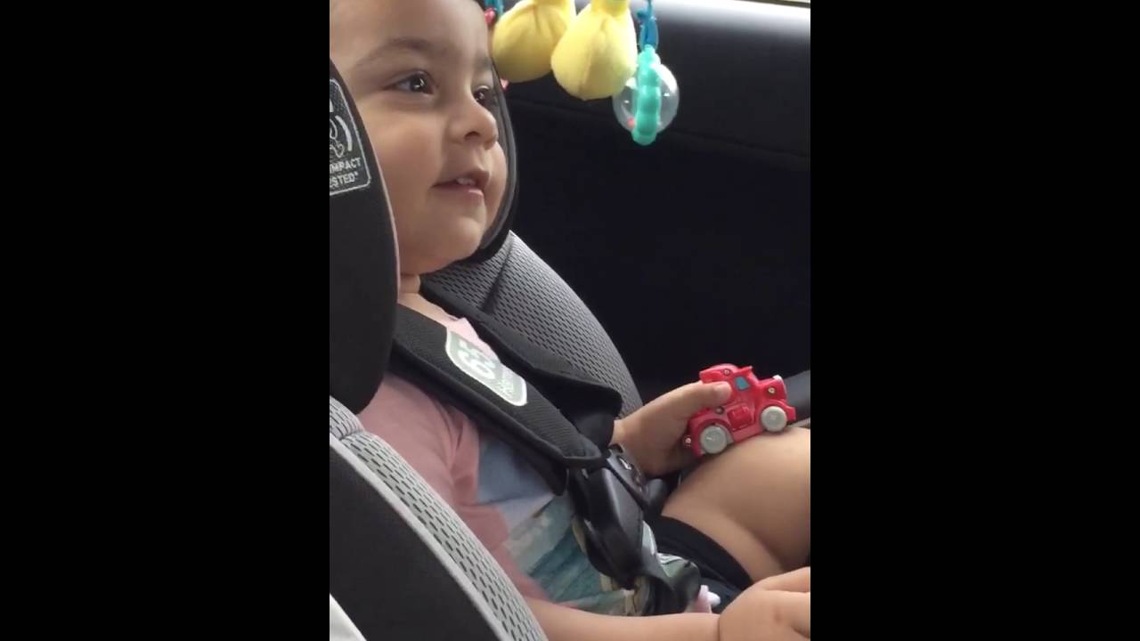 Cute baby pronouncing his Colors