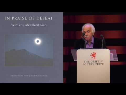 Translator Donald Nicholson-Smith, poet Abdellatif Laabi read from In Praise of Defeat