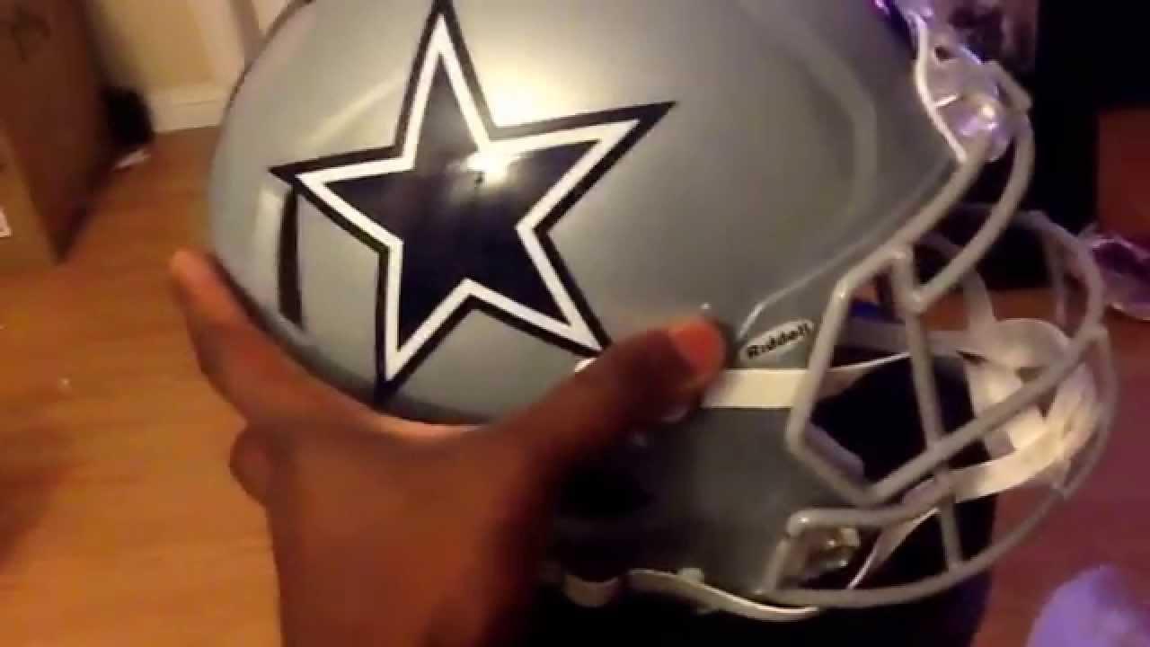 unboxing nfl dallas cowboys helmet youtube