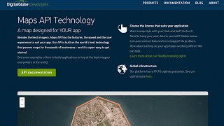 DigitalGlobe Maps API in collaboration with Mapbox