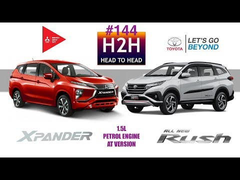 H2H #144 Mitsubishi XPANDER vs Toyota ALL NEW RUSH