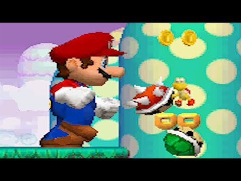Newer Super Mario Bros DS 100% Walkthrough Part 7 - Cirrus Heavens (All Star Coins & Secret Exits)