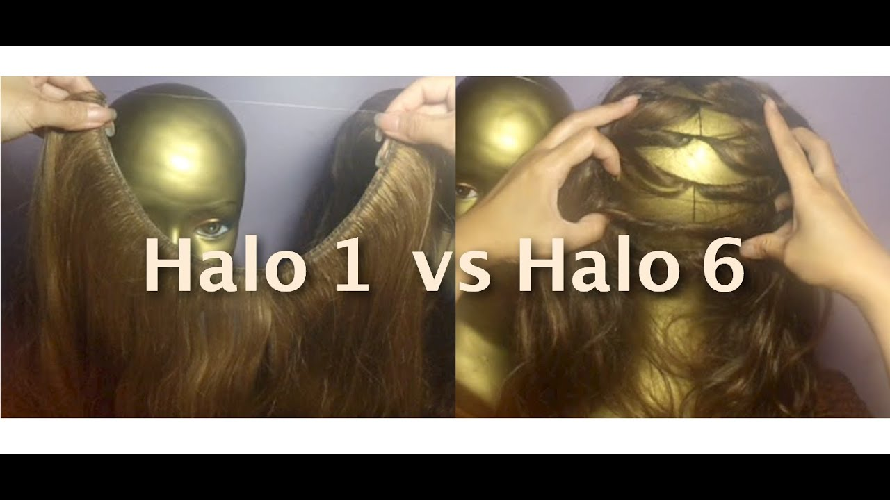Halo 1 hair extensions vs halo 6 hair extensions youtube halo 1 hair extensions vs halo 6 hair extensions pmusecretfo Image collections