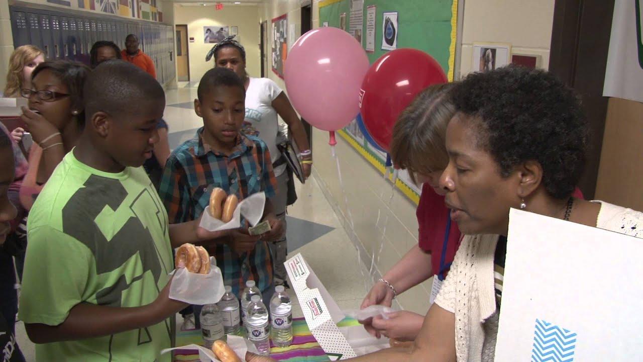 E. L. Wright Middle School Water For Sudan - YouTube
