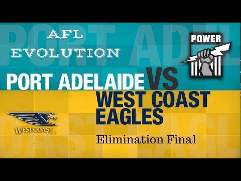 Afl Evolution: West coast vs Port Adelaide