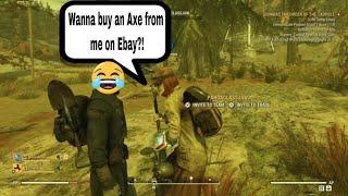Black Market Seller Mad at Sandman - Fallout 76 PVP, Scammer Alert