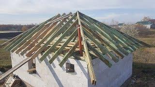 вальмовая крыша своими руками. Стропильная система. Часть 2