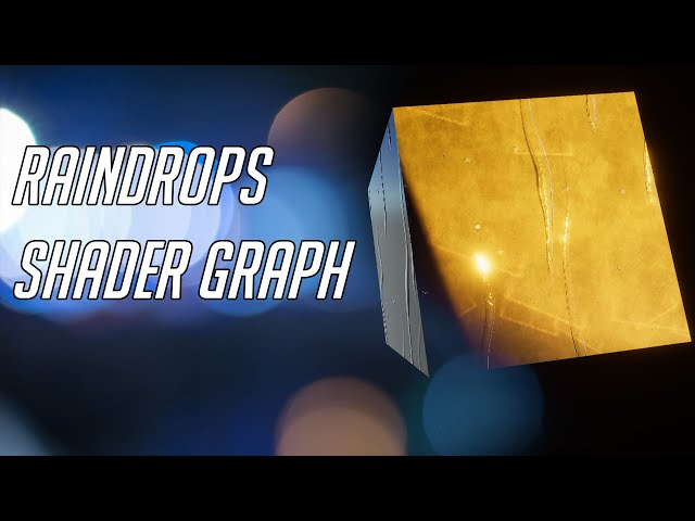 Raindrops Shader Graph - Unity URP Tutorial + Photoshop texture tutorial