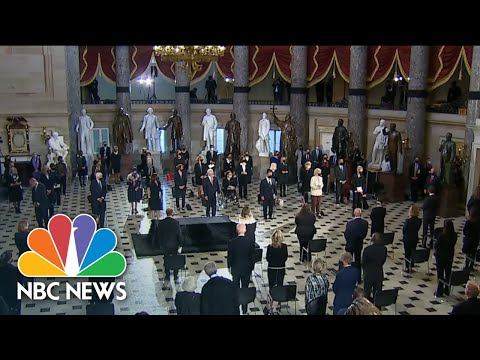 Justice Ruth Bader Ginsburg Is Brought Into Capitol To Lie In State | NBC News