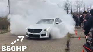 CTS V, Hellcat, and ZL1 Burnout - Sinister Car Meet 2017