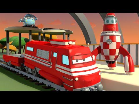Troy le Train et Rocky la fusée à Car City | Dessin animés pour enfants