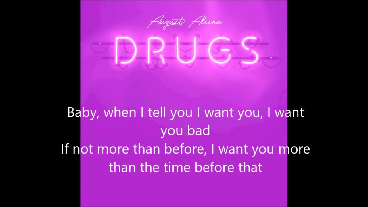 Download August Alsina - Drugs (Lyric Video)