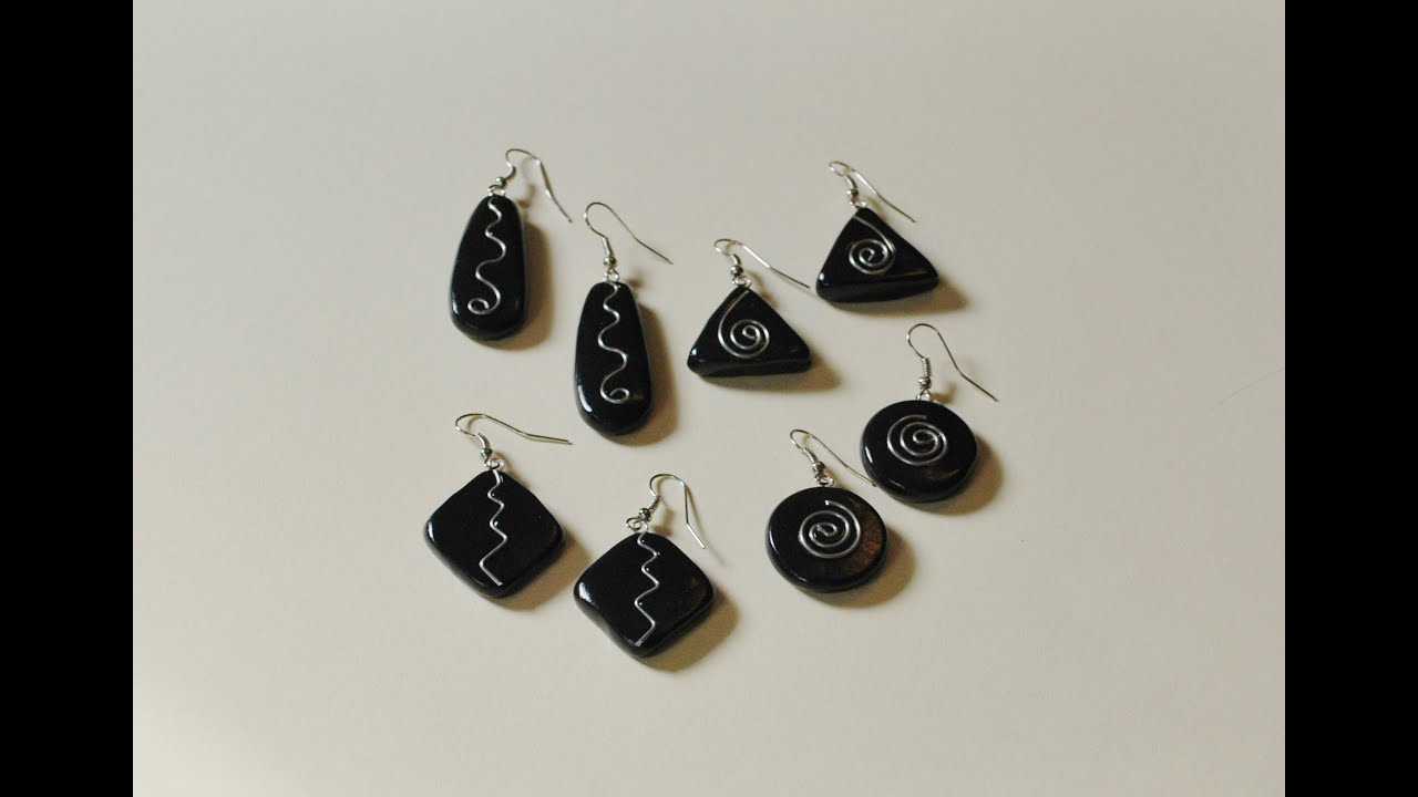 Polymer Clay Earrings with Wire Embellishments Tutorial - YouTube