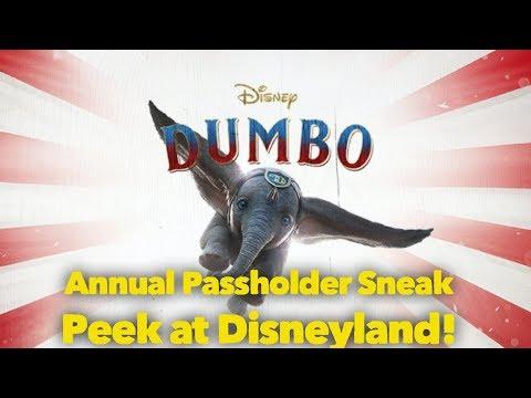 Dumbo Annual Passholder Sneak Peek at Disneyland!!