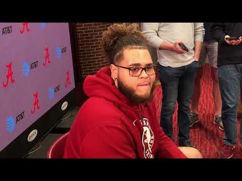 Jedrick Wills Jr. talks about Alabama's offensive line