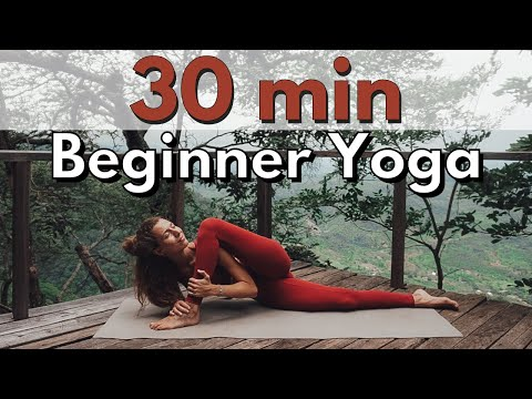 30 min yoga flow for beginners  easy and gentle movements