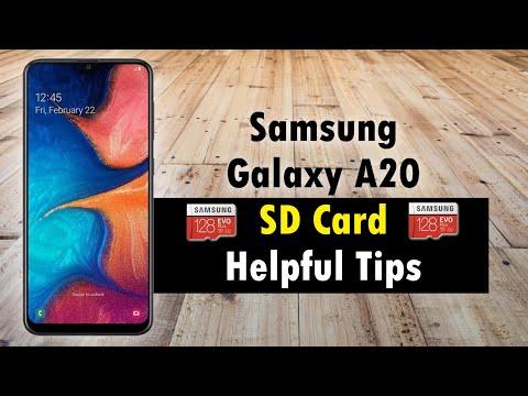 Samsung Galaxy A20 SD Card Helpful Tips