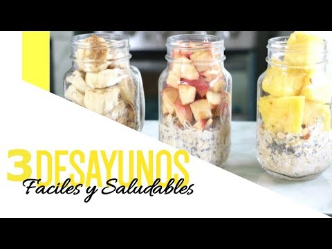3 DESAYUNOS CON AVENA | Faciles y saludables | OVERNIGHT OATS FOR BREAKFAST🌟Maglambymaleisa