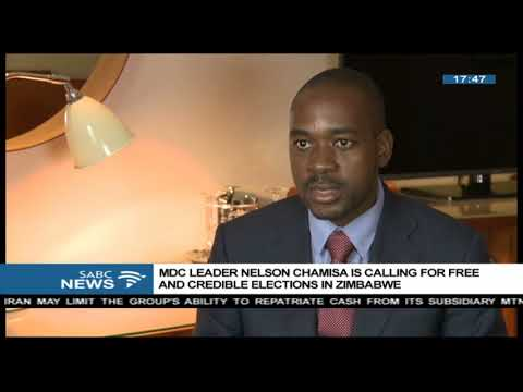 Nelson Chamisa calls for free and credible elections in Zimbabwe