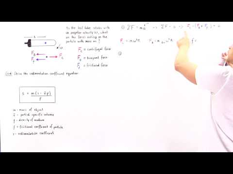Derivation of Sedimentation Coefficient Equation