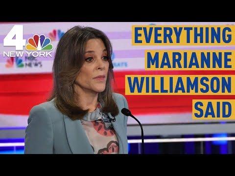 Everything Marianne Williamson Said During the Democratic Debate | NBC New York
