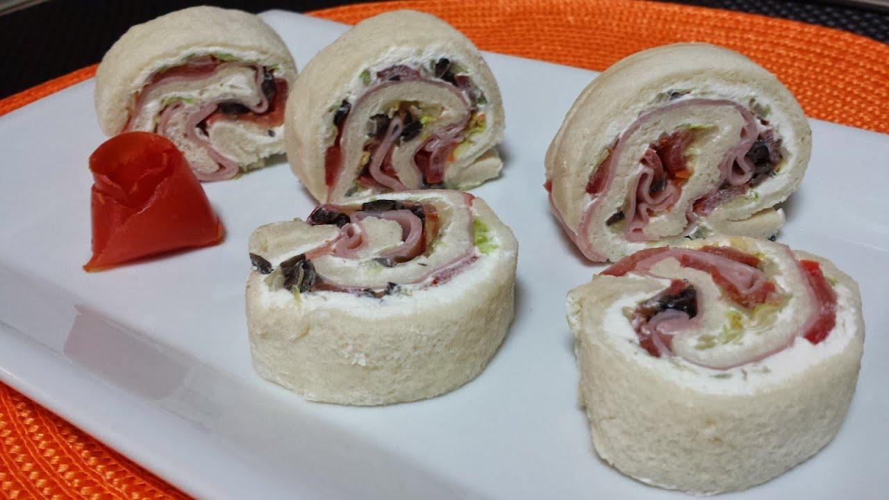Rollitos de pan de molde youtube for Comidas faciles de preparar en casa