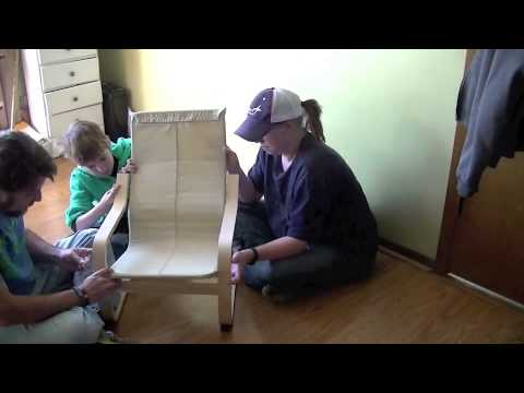 ikea childrens poang chair timelapse youtube