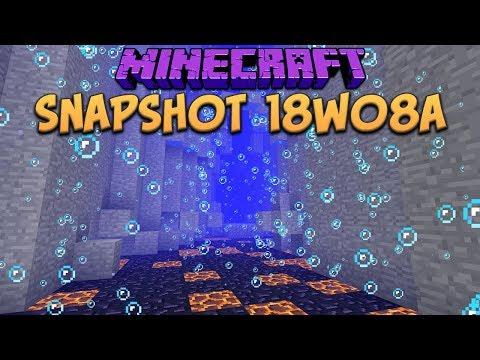 Minecraft 1.13 Snapshot 18w08a Underwater Ravines & Ocean Biomes (Update Aquatic)