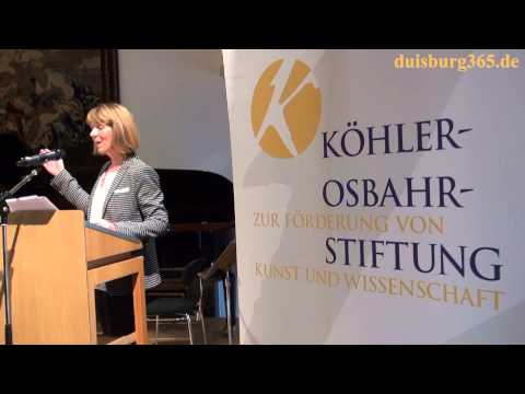 MKS Duisburg Leiterin Johanna Schie zum Foerderpreis der Koehler Osbahr Stiftung