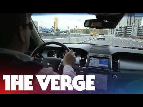 Ford's vehicle-to-vehicle (V2V) communication demo at CES
