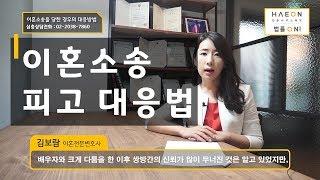 이혼소장이 날라왔습니다. 이혼소송 대처방법 - 서울이혼…
