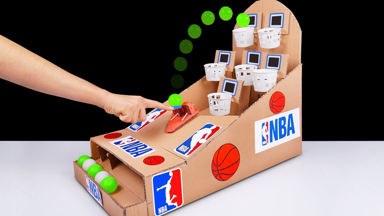DIY How to make NBA Basketball Board Game from Cardboard at Home