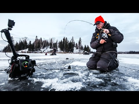 First Ice Backcountry Walleye Fishing