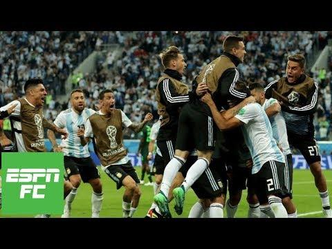Download Argentina 2, Nigeria 1: Lionel Messi scores, Marcos Rojo saves team's 2018 World Cup run | ESPN FC