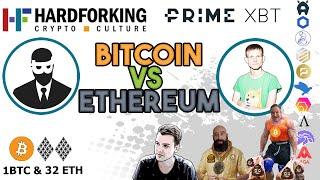 Bitcoin Ethereum analysis & arguments. + HEX BONK & FORKERY