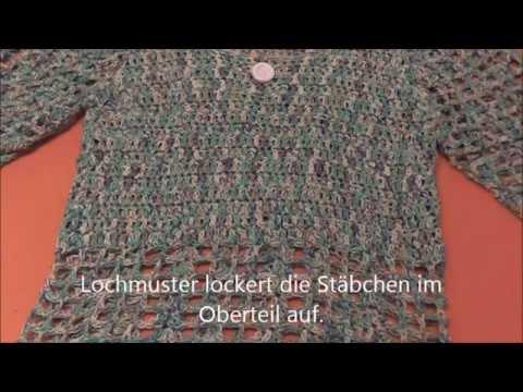 Leichter Pullover für den Sommer gehäkelt - YouTube