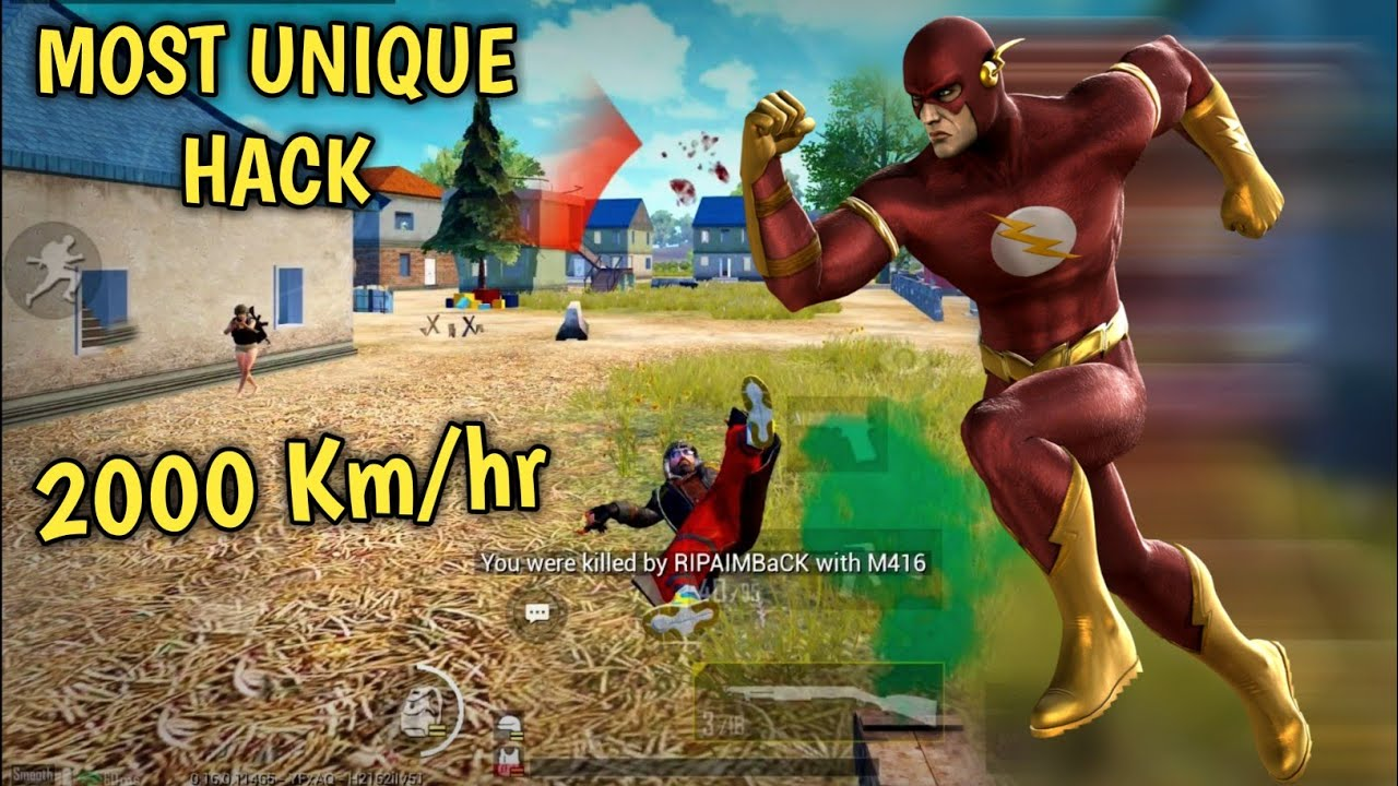 MOST UNIQUE HACK IN PUBG MOBILE   2000 km/hr speed hack   Pubg mobile Hindi Gameplay
