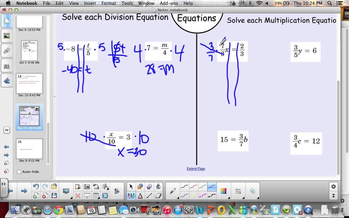 6th Grade, Lesson 5 6 Equations with Fractions - YouTube