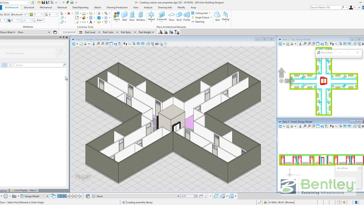AECOsim Building Designer CONNECT Edition - Create Custom User Properties