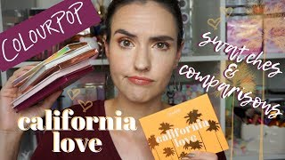 ColourPop SUMMER 2019 California Love | Swatches of Everything + Palette Comparisons