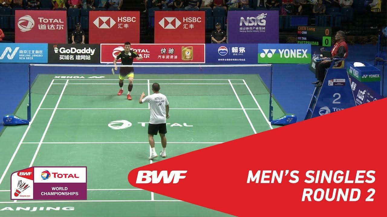 MS | CHEN Long (CHN) vs Khosit PHETPRADAB (THA) | BWF 2018 - YouTube