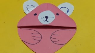 DIY cat Origami - How to make origami teddy cat face tutorial