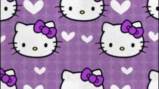 hello kitty wallpaper purple