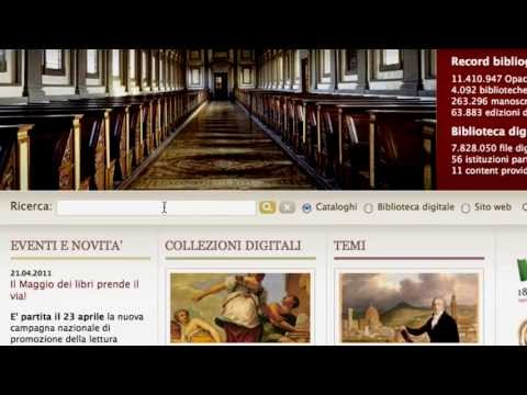 Internet Culturale, digital collections and catalogues of Italian libraries - tutorial