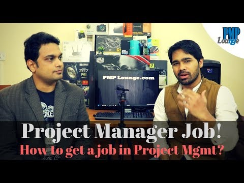 PMP Question - How to land a job in Project Management? | How do you become a Project Manager?
