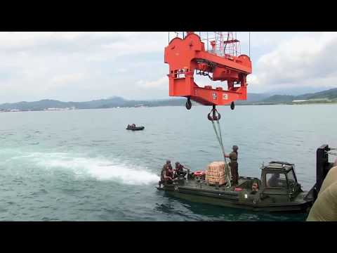USNS Sacagawea Offload Weapons and Ammunition in Subic Philippines