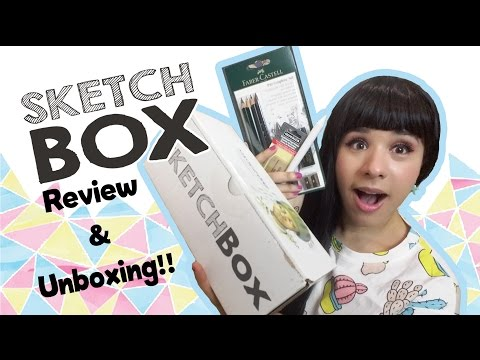 Art Supplies EVERY MONTH!! SKETCH BOX Unboxing And Review
